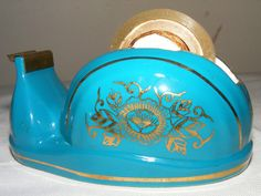 Mid Century Vintage Desk Accessory Turquoise by RecyclingTheBlues, $12.00