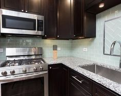Chicago's kitchen cabinets by Chi Renovation & Design Amy's Kitchen, Finish Kitchen Cabinets, Kitchen Room Design, Kitchen Backsplash, Backsplash Ideas, Kitchen Ideas, Espresso Cabinets, Dark Cabinets, Luna Pearl Granite
