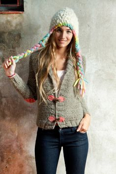 love this hat   gorro trenzas