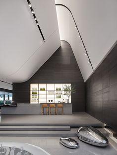 Minimalist Architecture, Futuristic Architecture, Interior Architecture, Interior Design, Lobby Interior, Roof Detail, Lobby Design, Shop Interiors, Commercial Interiors