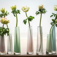 Solifleur vases are available in two sizes and many, many different colours