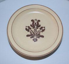 """Set of 4 Pfaltzgraff Village Pattern 7"""" Salad Plate Old Castle"""