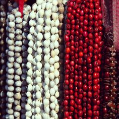 Beads at the market