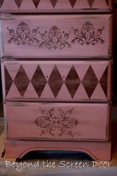 A Pink Dresser for Baby Alexa | Beyond the Screen Door