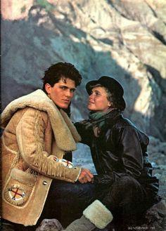 GQ November 1981 Photo byRico Puhlmann Stylist Julie Britt Models Michael Schoeffling & Unknown