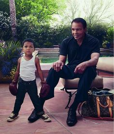 Muhammad Ali and his look-alike grandson,CurtisMuhammad Conway Jr.... son of Ali's daughter Laila