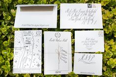 calligraphy invitations by Maybelle Imasa-Stukuls, photo by Erik Ekroth