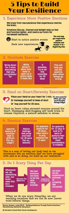 5 Tips to Build Resilience (infographic)