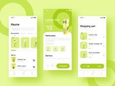 This is a dessert E-commerce App by Cameron Ui Design Mobile, App Ui Design, Interface Design, User Interface, Flat Design, Android App Design, App Design Inspiration, Mobile App Ui, Apps