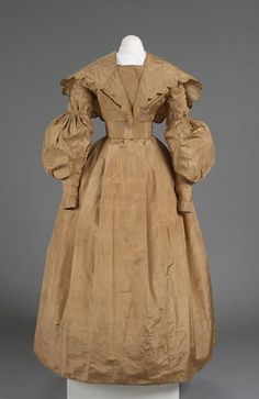 1836 Day Dress with Pelerine, The Litchfield Historical Society