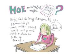 Leren; hoe plan en maak ik mijn huiswerk? Leer het bij Leerzin coaching