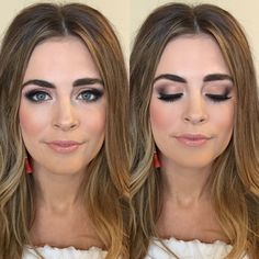 How to create a smokey eye.  Bronze Smokey Eye, Smokey Eye, Bridal Makeup, Everyday Makeup, Nude Lip