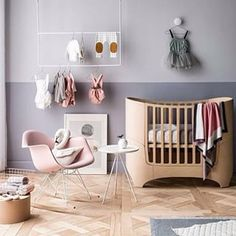 Grays and pinks for baby room