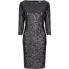 True Decadence Sequin sleeved bodycon dress ($99) ❤ liked on Polyvore featuring dresses, black, women, bodycon dress, black sequin cocktail dress, party dresses, black bodycon dress and sparkly cocktail dresses