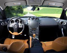 Nissan Burnt Orange 350Z Interior