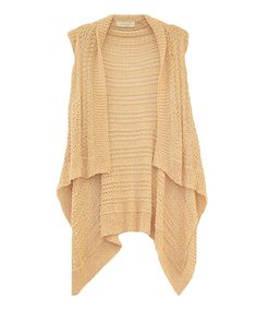 Take a look at this Costa Blanca Natural Draped Sweater Vest on zulily today!