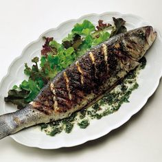 grilled whole branzino with fennel and herbs