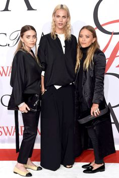Olsens Anonymous Blog Style Fashion Get The Look Mary-Kate and Ashley Olsen Go Understated In Black For The 2015 CFDA Awards Drop Earrings Win Award Satin Coat Chanel Flats Loafers Model Aymeline Valade Event photo Olsens-Anonymous-Blog-Style-Fashion-Get-The-Look-Mary-Kate-and-Ashley-Olsen-Go-Understated-In-Black-For-The-2015-CFDA-Awards-Drop-Earrings-Win-Award-Satin-Coat-Chanel-Flats-Loafers-Mod.jpg