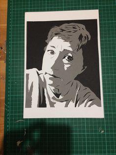 Self portrait by Mrs Scuffer. 4 layer Papercut