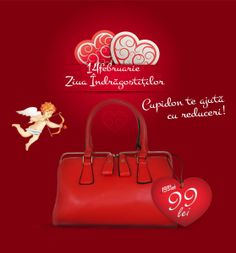 "Cupid is coming to help you! The ""Valentines day Cupidon bag"" from genti-posete.ro!"