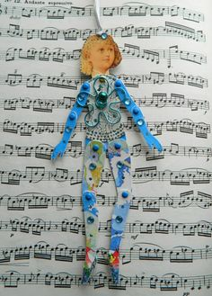 Jointed Paper doll by JuliaPeculiar on Etsy