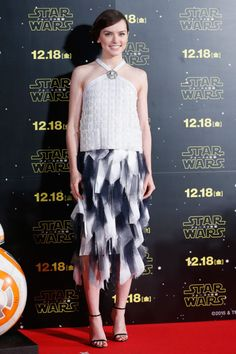 In Chanel at a fan event for Star Wars: The Force Awakens in Tokyo.