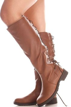 Back Lace Up Knee High Boots Winter Boots Womens Vegan