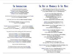 Catholic Wedding Programs with Mass | ... wedding ceremony diy program wolfpack Wedding Program Wedding Bee