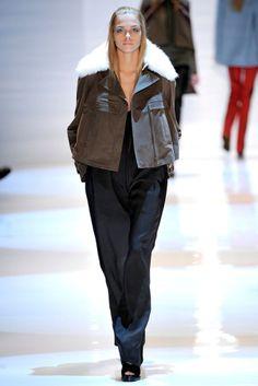 DEREK LAM $2,690 shearling collar anorak coat FW11 runway jacket 8/12/40/44 NEW