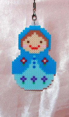 Russian Capacara Doll Figure perler beads by katieshop