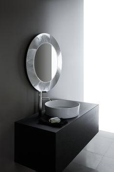 Kartell by Laufen Mirror Cabinets, Small Toilet Room, Minimalist Bathroom Design, Mirror With Lights, Round Mirror Bathroom, Laufen Bathroom, Towel Rail, Mirror, Bathroom Lighting