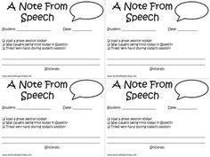 Practically Speeching: A Note From Speech - FREEBIE alert!