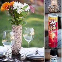 diy project - vas bunga dari kaleng bekas makanan ringan