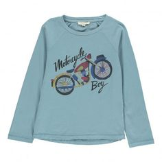 T-shirt Motorcycle Bleu gris  Hundred Pieces