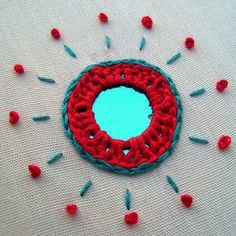 Tutorial: Indian Shisha (mirror-work) embroidery, diy, handmade, needlework, how-to Indian Embroidery, Hand Embroidery Designs, Embroidery Applique, Beaded Embroidery, Cross Stitch Embroidery, Embroidery Patterns, Bordado Floral, Art Textile, Creation Couture