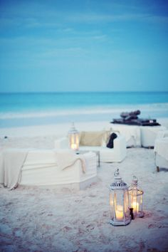 Inspiration: Cape Cod Beach Wedding on Borrowed & Blue.  Photo Credit: via Style Me Pretty