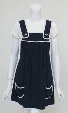A cute black jumper dress from Petro Zillia.