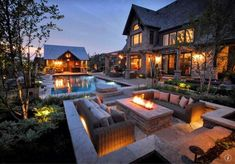 """Luxury Homes Interior Dream Houses Exterior Most Expensive Mansions Plans Modern 👉 Get Your FREE Guide """"The Best Ways To Make Money Online"""" Backyard Buildings, Dream Mansion, Luxury Homes Dream Houses, Small Luxury Homes, Modern Backyard, Backyard Bbq, Infinity Pool Backyard, Cozy Backyard, Dream House Exterior"""