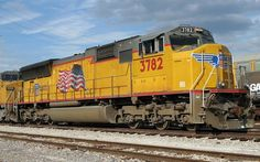 "Wings/Flags/Flares (W/F/F): Characteristics used to designate Union Pacific's paint scheme and engine type. Wings = ""Wing"" Decal on the engine nose, Flags = ""American Flag"" Decal on engine body, Flares = ""Flared Radiators"" of certain SD70Ms on the long hood. Some UP engines have one or more of these characteristics"