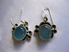 "Artisan Handcrafted 3TCW Blue Moonstone 925 SterlingSilver Earrings 3/4"" Drop 5g #ArtisanHandcrafted #DropDangle"