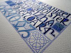 Anachropsy - Calligraphie latine par Benoit Furet - La gloire du paradis