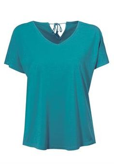 Plus Size V-neck tee with back tie