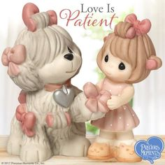 Precious Moments, Love Is Patient, Bisque Porcelain Figurine, 164016 Disney Precious Moments, Precious Moments Quotes, Precious Moments Figurines, Biscuit, Love Is Patient, Beautiful Family, Sheep, Little Girls, Unique Gifts