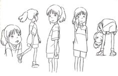 Living Lines Library: 千と千尋の神隠し / Spirited Away (2001) - Character Design, Model Sheets