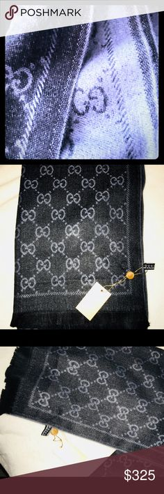 This is one of my favorite cashmere pashmina's This gorgeous cashmere wrap looks black in my pictures, but it's Charcoal that can appear black and also appears a little navy with denim.  I want this, BTW!  Grrr ... I need to sell!  Tons of things I'll be listing all wk, but I'm listing the best first.  Check out my page!  Lots more to come after I sell what's up now. Accessories Scarves & Wraps