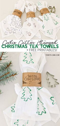 Darling Cookie Cutter Stamped Tea Towels the whole family can enjoy making for s. - Darling Cookie Cutter Stamped Tea Towels the whole family can enjoy making for s. Darling Cookie Cutter Stamped Tea Towels the whole family can enjo. Diy Gifts For Girlfriend, Diy Gifts For Dad, Diy Gifts For Friends, Homemade Gifts, Diy Gifts Creative, Creative Decor, Diy Gifts For Christmas, Christmas Tea, Holiday Crafts