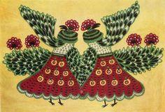 Ukrainian representative of naïve art: Maria Prymachenko -Sea Artists (1961) / Український представник наївного мистецтва: Марія Примаченко- Морські артисти (1961)