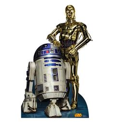 R2-D2 & C-3PO Retouched Cardboard Standup