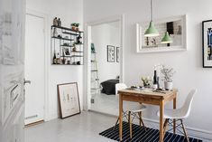 Delightful One-Room Studio Apartment in Gothenburg Inspiring Brightness and Space - http://freshome.com/delightful-studio-apartment-Gothenburg