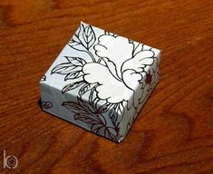 How to make a box from a greeting card. :)